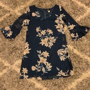 Blue Rain Navy Floral Dress